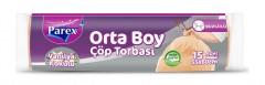 Parex Orta Boy Çöp Torbası Vanilya Kokulu 15 Adetli (55x60cm)