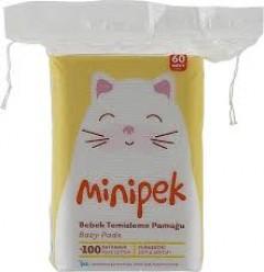 Minipek Bebek Temizleme Pamuğu 60 Adet