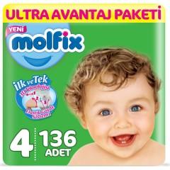 Molfix Ultra Avantaj Paketi 4 Numara 7-14 Kg  136 Adet