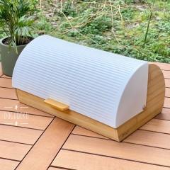 AROW Bambu Lüx Ekmeklik Metal Kapaklı Raylı Sistem Beyaz