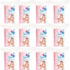 İpek Bebek Temizleme Pamuğu 60 Adet 12'Li Set