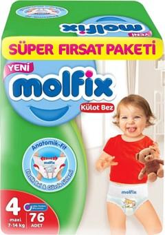 Molfix Süper Fırsat Paketi 4 Numara Külot Bez 76 Adet