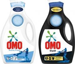 Omo Sıvı Çamaşır Deterjanı Active 1950 mL + Black 1950 mL