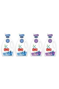 Omo Sıvı Çamaşır Deterjanı Active 1950 ml x 2 Adet + Omo Color 1950 ml x 2 Adet