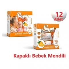 Sleepy Islak Havlu Mendil 50 Yaprak Portakal 12 'li