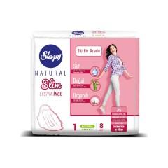 Sleepy Natural Slim Extra Thin 1 numara ( 8 ped)