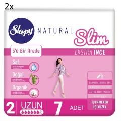 Sleepy Natural Slim Ekstra İnce Normal (7 Ped) X 2 Lİ