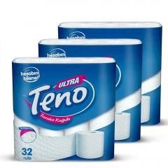 Teno Çift Katlı Tuvalet Kağıdı 32 Rulo X 3 Adet