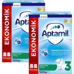 Aptamil 3 Akıllı Kutu Devam Sütü 1200 gr x 2 Adet