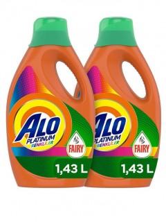 Alo Platinum Fairy Etkili 22 Yıkama 2'li Set Renkli Sıvı Çamaşır Deterjanı
