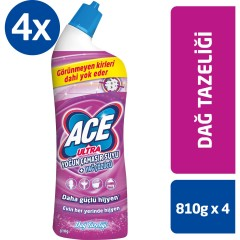 ACE Ultra Yoğun Kıvamlı Çamaşır Suyu Dağ Tazeliği (810gr x 4 ) 3240gr
