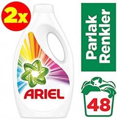 Ariel Sıvı Çamaşır Deterjanı Parlak Renkler 24x2 (Toplam 48 Yıkama)