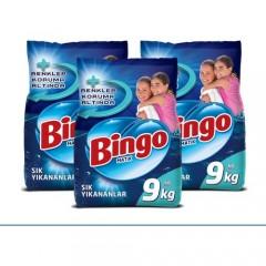 Bingo Matik Sık Yıkananlar 9 kg Çamaşır Deterjanı 3'lü Set