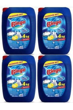 Bingo Bulaşık Deterjanı (4 kg X  4 adet) X 16kg