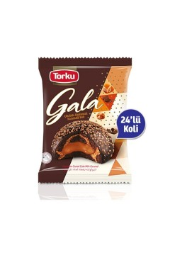 Torku Gala Karamelli Çikolata Kaplı Kek  (50g) 24'lü Koli