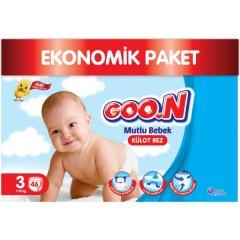 Goon Mutlu Bebek Kulot Jumbo 3  No 46 lı Bebek Bezi