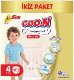 Goon Premium Soft Külot Bebek Bezi 4 Beden (9 -14 kg)  20Adet
