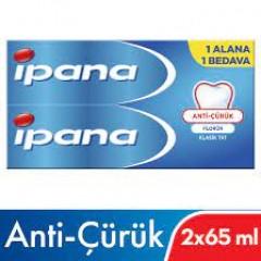 İpana Kalsident Klasik Tat Anti Çürük 65 ml + 65 ml Diş Macunu