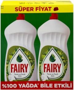 Fairy Sıvı Bulaşık Deterjanı Elde Yıkama 1350x2 Toplam 2700 ml Elma
