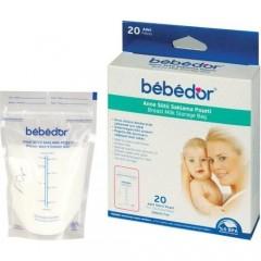 Bebedor Kilitli Süt Saklama Poşeti 20 Adet