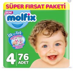 Molfix Süper Fırsat Paketi 4 No 7-14 Kg 76 Adet
