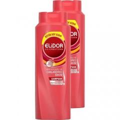 Elidor Renk Koruyucu ve Canlandırıcı Bakım Şampuan 650 ml 2'li Paket