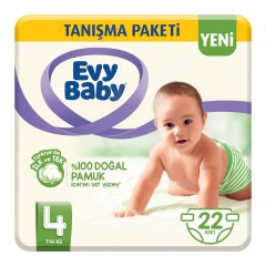 Evy Baby Bebek Bezi 4 Beden Maxi Tanışma Paketi 22'li