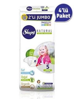 Sleepy Natural İkili Jumbo Bebek Bezi 5 Numara 4 Paket (192 Adet)
