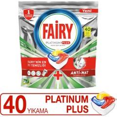 Fairy Platinum Plus 40 Yıkama Bulaşık Makinesi Deterjanı Kapsülü
