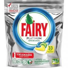 Fairy Platinum 33 Yıkama Bulaşık Makinesi Deterjanı Kapsülü Limon Kokulu