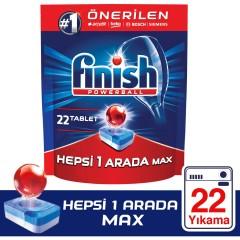 Finish Hepsi Bir Arada 22 Tablet Bulaşık Makinesi Deterjanı