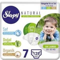 Sleepy Natural İkili Jumbo Bebek Bezi 7 Numara 4 Paket (128 Adet)